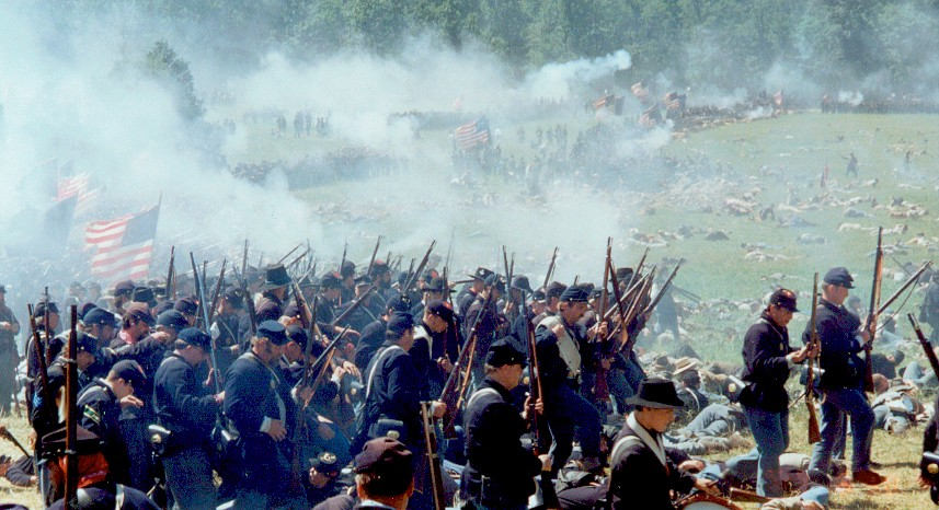3rd VT Infantry portraying the troops of Stannard's Vermonters (Second Vermont Brigade)